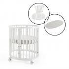 Stokke Sleepi Mini Crib with Sleepi Bed Extension & Mattress