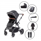 Silver Cross Wave 2020 Travel System with Silver Cross Dream Car Seat, Base & Free Footmuff & Cupholder