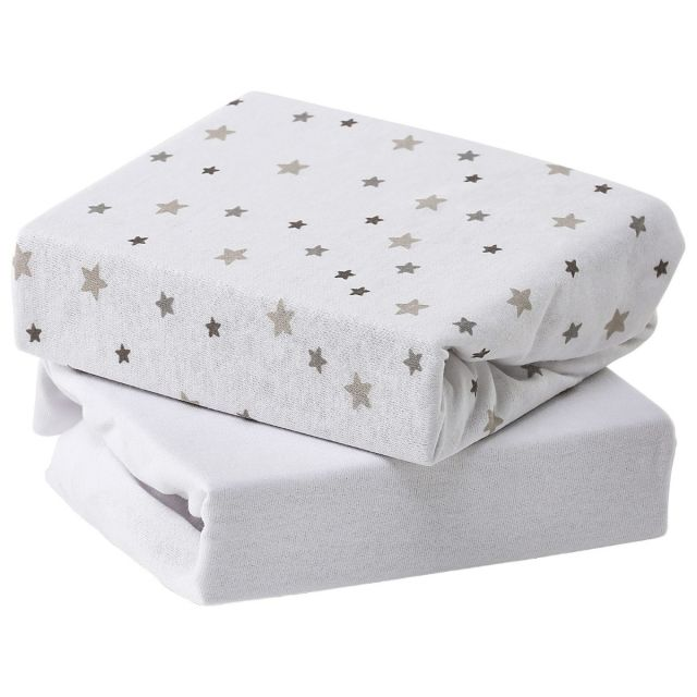 Baby Elegance Sheets Cotbed 2pk - Grey Star