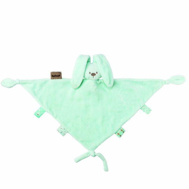 Nattou Maxi Doudou Comforter - Mint Green