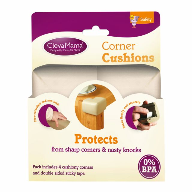 Clevamama Corner Cushions - Natural