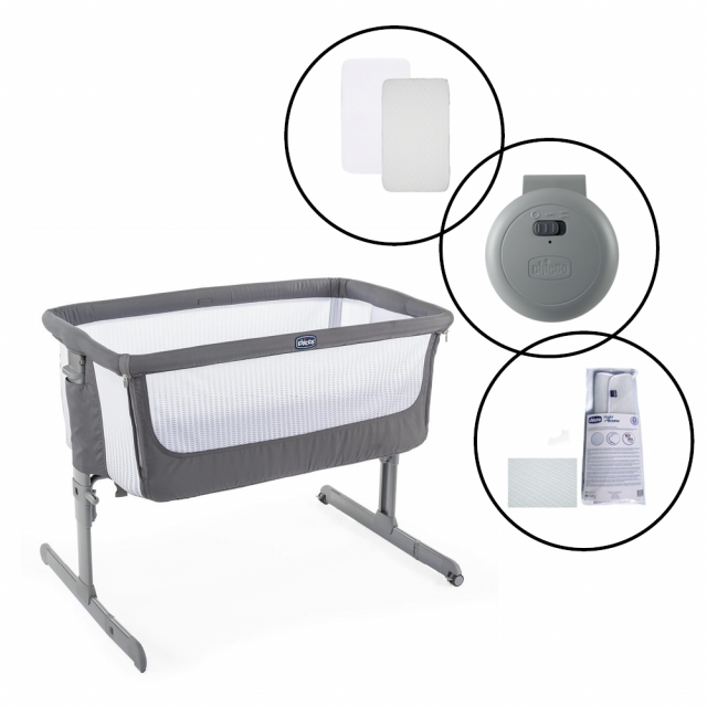 Chicco Next2Me Beside Crib Bundle - Air