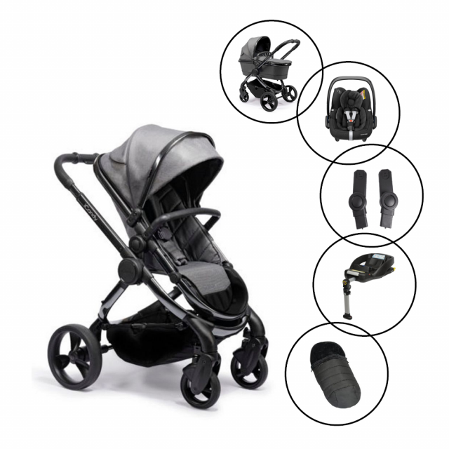 iCandy Peach Travel System with Maxi Cosi Cabriofix & Base and FREE Duopod