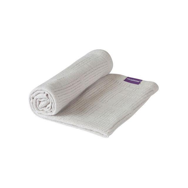 Clevamama Cellular Blanket Crib/ Moses Basket - Grey