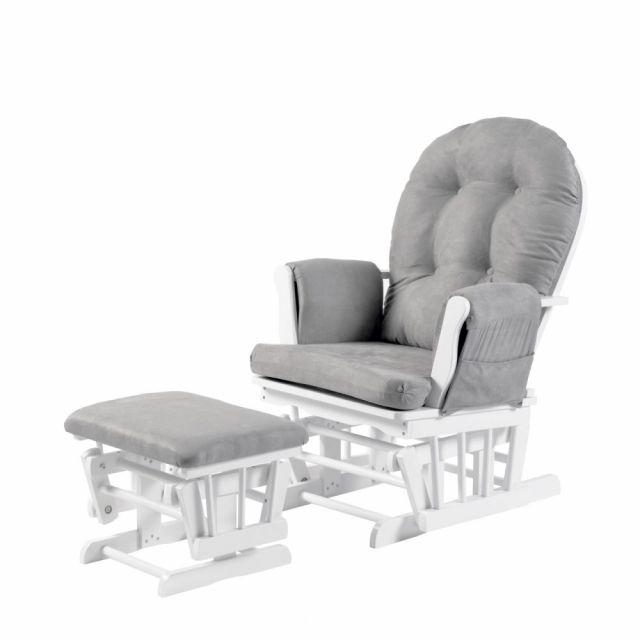 Babylo Brompton Glider Nursing Chair - Grey Suedette