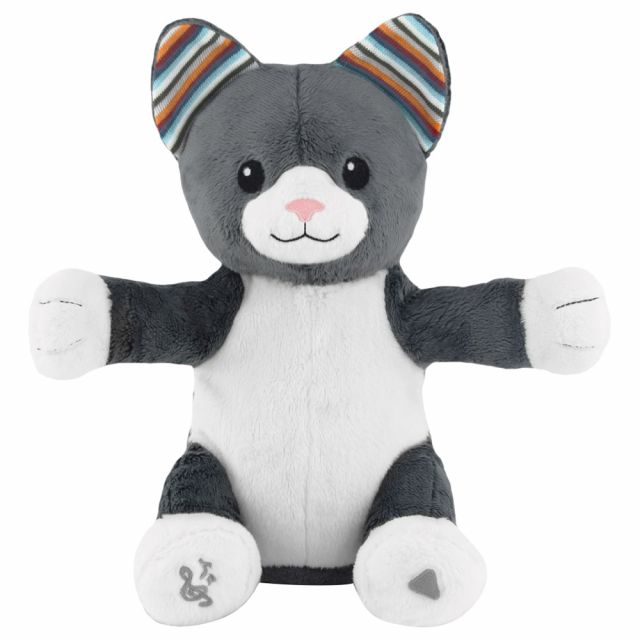 ZAZU Chloe The Cat Soft Toy with Clapping Hands & Sound