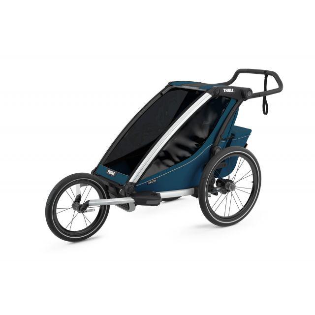 Thule Chariot Cross 1 Multisport Trailer & Stroller - Majolica Blue