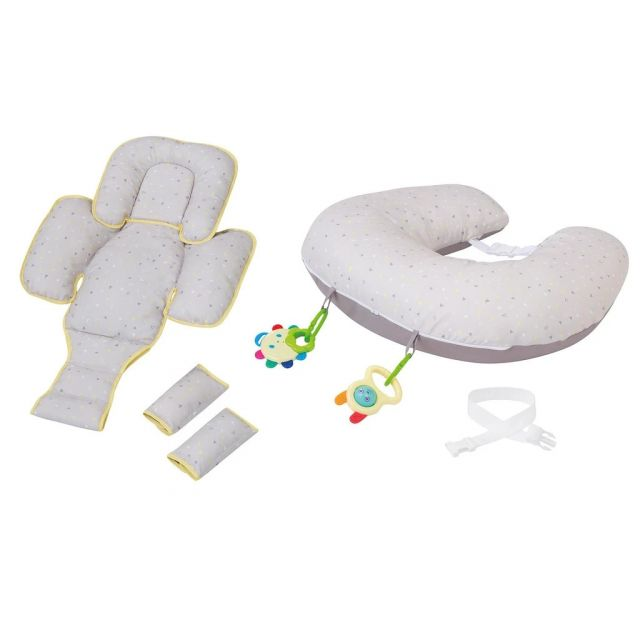 ClevaCushion Nursing Pillow & Baby Nest - Grey