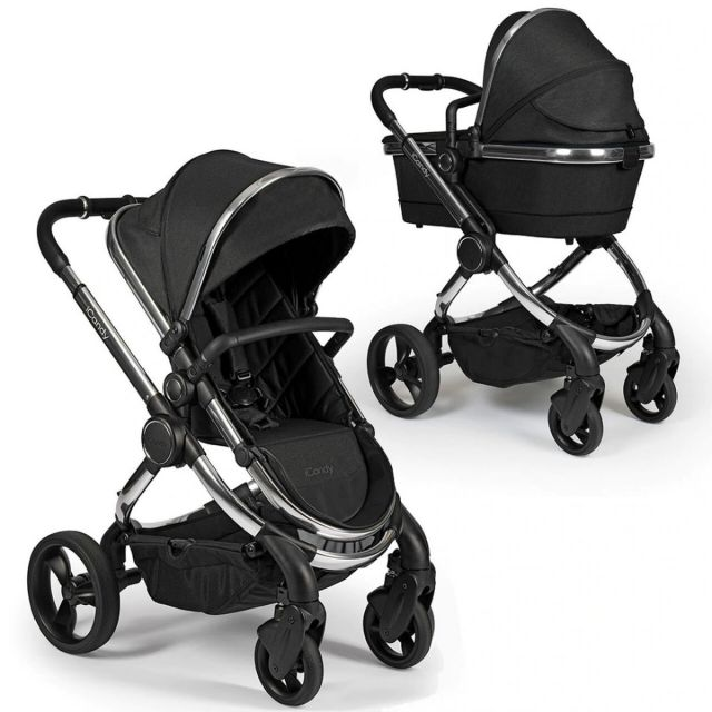 iCandy Peach Pushchair & Carrycot - Chrome Black Twill