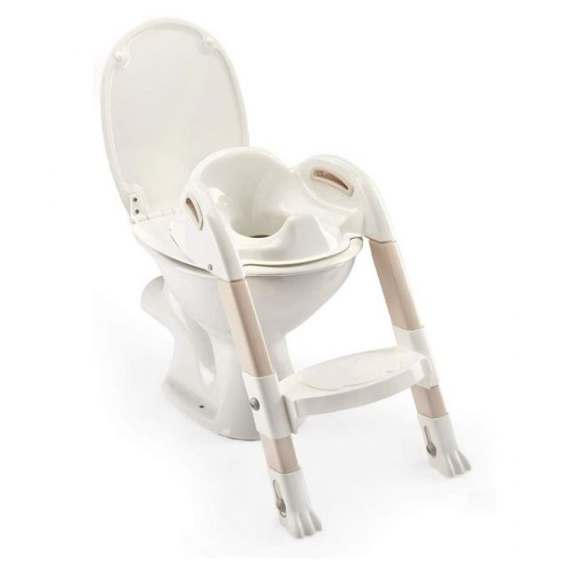 Kiddyloo Toilet Trainer - Iced Brown & White