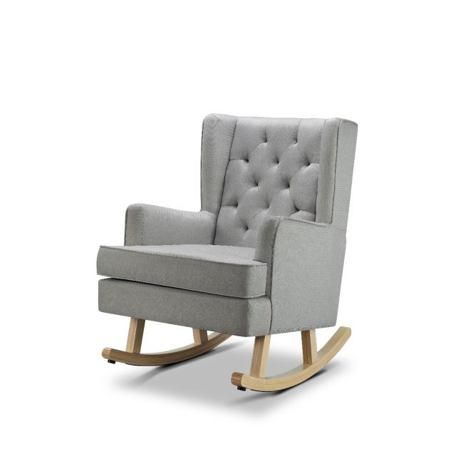 Nested Soothe Easy Rocking Chair - Cool Icey Grey