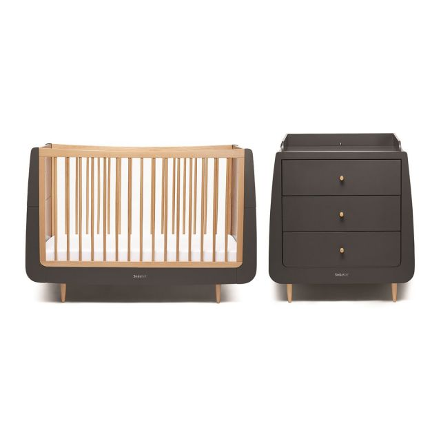 SnuzKot Skandi 2 Piece Nursery Furniture Set Slate