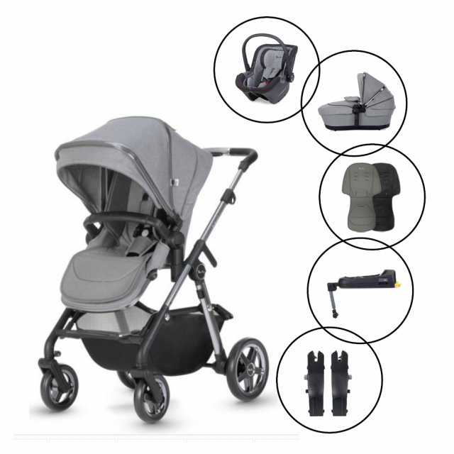 Silver Cross Pacific Autograph Travel System with Silver Cross Dream Car Seat & Base