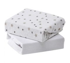 Baby Elegance Sheets Cotbed 2pk - Grey Star