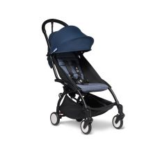 BABYZEN YOYO2 6mth+  Stroller - Black with Air France Blue