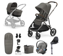 Cybex Gazelle S Mono Travel System with Cybex Aton M iSize - Taupe frame