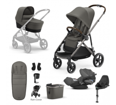 Cybex Gazelle S Mono Travel System with Cybex Cloud Z iSize - Taupe frame