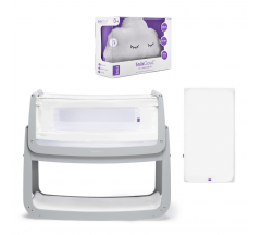 Snuzpod4 Bedside crib bundle with SnuzCloud and Mattress protector