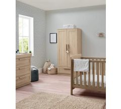 Atlas 3 Piece Cotbed Range - Light Oak