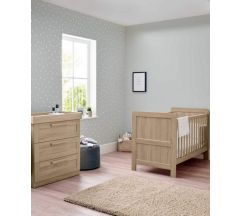 Atlas 2 Piece Cotbed Set - Light Oak