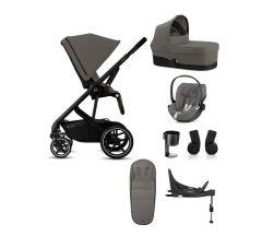 Cybex Balios S Lux 8 piece bundle - Black frame with Cloud Z car seat & base