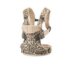 BabyBjörn One Baby Carrier - Beige Leopard Cotton