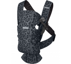 BabyBjörn Cotton Mini Baby Carrier - Anthracite Leopard