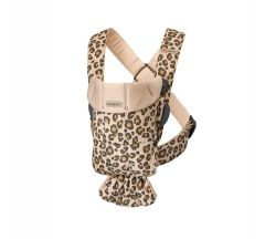 BabyBjörn Cotton Mini Baby Carrier - Beige Leopard