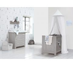 Bella Baby 2 Piece CotBed & Dresser Set - Alto White