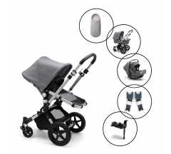Bugaboo Cameleon3 plus Travel Sytem with Bugaboo Turtle Air Car Seat & Base with Free Newborn Inlay