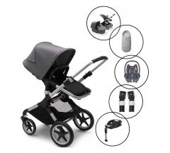 Bugaboo Fox2 Complete Travel System with Maxi Cosi Cabriofix & Base with free Inlay