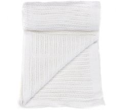 Mamas & Papas Cellular Cotbed Blanket - White