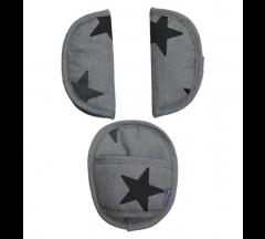 Dooky Universal Pads -  Grey Stars