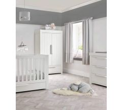 Mamas & Papas Franklin 3 Piece Cotbed Range - White Wash