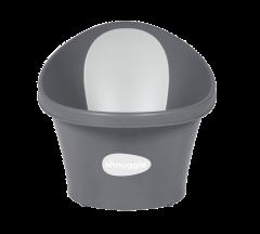 Shnuggle Baby Bath With Plug & Foam Backrest - Grey Slate