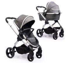 Icandy Peach Phantom Pushchair & Carrycot – Dark Grey Check
