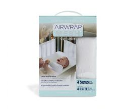 Airwrap White 4 Sided Mesh Cot liner/bumper