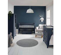 Mamas & Papas Melfi 3 Piece Cotbed Range with Dresser & Storage Wardrobe - Midnight