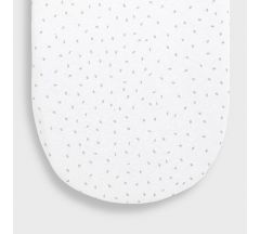 Little Green Sheep Organic Moses Fitted Sheet - White Rice