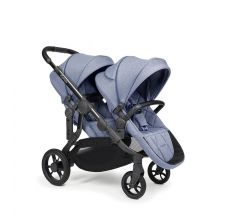 iCandy Orange Double Pushchair - Mist Blue Marl