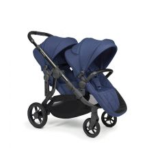 iCandy Orange Double Pushchair - Royal Blue Marl