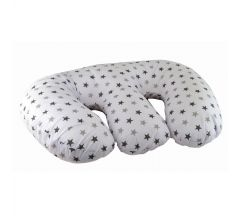 Cuddles CollectionTwin 4 in 1 Nursing Pillow- Silver Twinkle