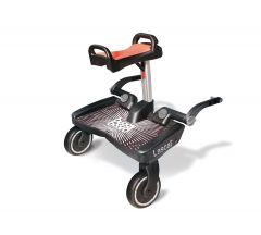 Lascal Maxi Plus BuggyBoard with Saddle - Black/Red