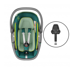 Maxi Cosi Coral Car Seat & FamilyFix 3 Bundle