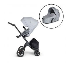 Stokke Xplory V6 Stroller & Carrycot - Grey Melange