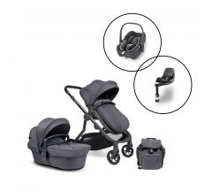 iCandy Orange Travel System with Maxi Cosi Pebble 360 & FamilyFix 360 Base