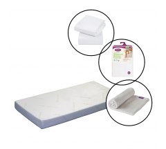 Clevamama ClevaBed Cotbed Mattress 4 Piece Bundle