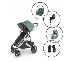 Uppababy Cruz V2 Travel System with Maxi Cosi Pebble 360 Car Seat & Base