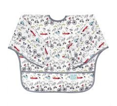 Bumkins Sleeved Bib - Urban Bird