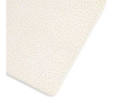 Little Green Sheep Organic Cot & Cot Bed Fitted Sheet - Linen Rice